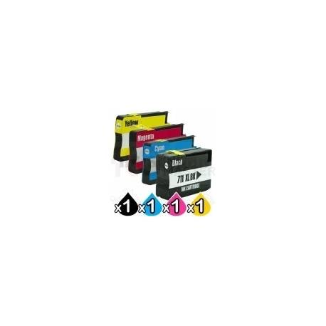 4 Pack HP 685 Compatible Inkjet Cartridges [1BK,1C,1M,1Y]