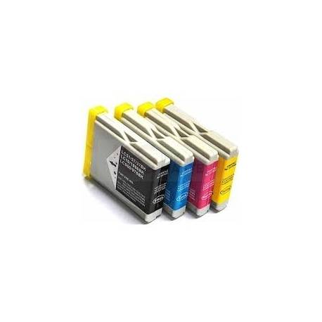 4 Pack Compatible Brother LC-57 Ink Cartridge Set (1BK,1C,1M.1Y)