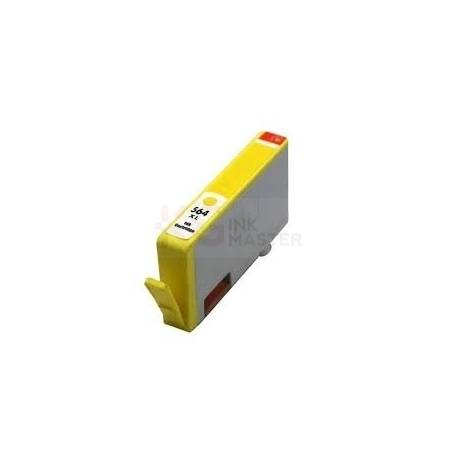 HP 564XL Compatible Yellow High Yield Inkjet Cartridge CB325WA - 750 Pages