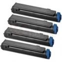 4 Pack Compatible OKI C712 C712n Toner Cartridge Set
